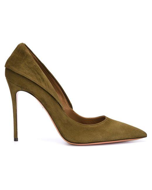 Aquazzura | Женские Зелёные Туфли Hollywood