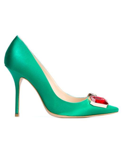 Sophia Webster | Женские Зелёные Декорированные Туфли Lola