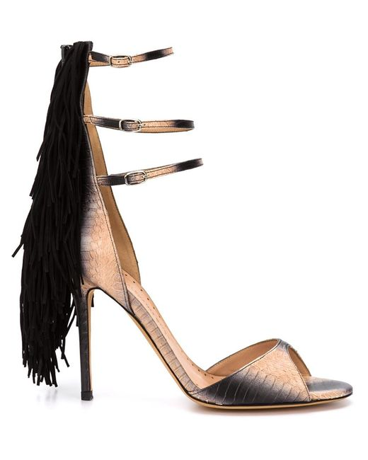 Alexa Wagner | Женское Nude & Neutrals Aurinia Fringed Sandals
