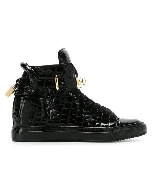 Buscemi | Женское Чёрный Embossed Wedge Sneakers