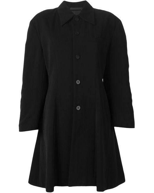 Comme Des Garcons   Женское Чёрное Пальто На Пуговицах