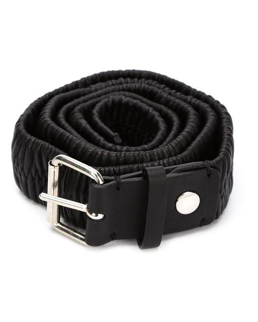 Y / PROJECT   Мужское Чёрный Double Buckle Belt