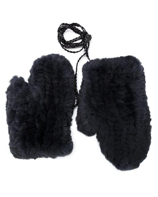Yves Salomon   Женское Серый Rabbit Fur Gloves
