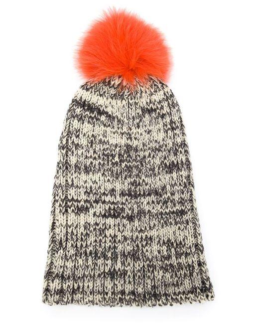 Yves Salomon | Женское Серый Fox Fur Pom-Pom Beanie