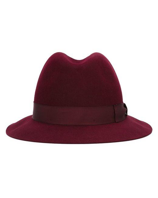 Borsalino   Мужская Красная Фетровая Шляпа