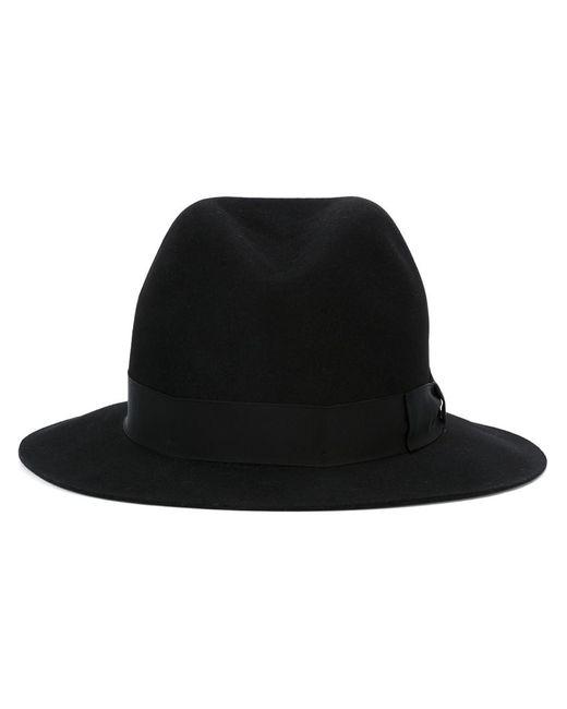 Borsalino   Мужская Чёрная Фетровая Шляпа
