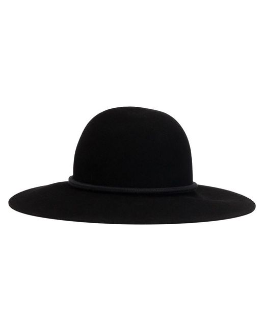 Lanvin | Чёрная Шляпа-Федора С Кисточками
