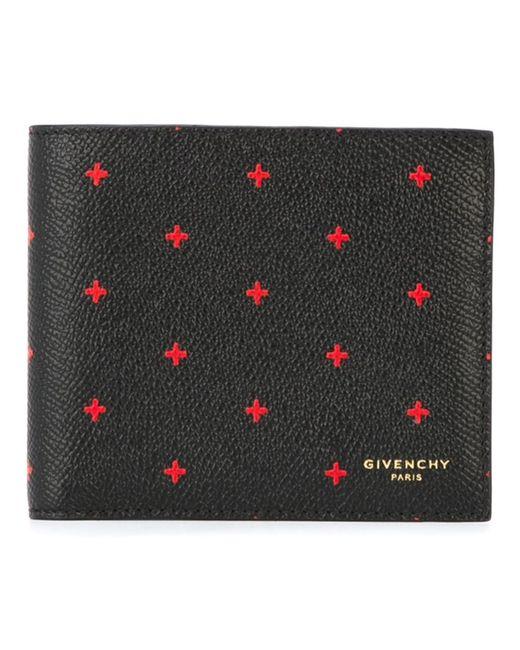Givenchy   Мужское Чёрный Cross Print Billfold Wallet