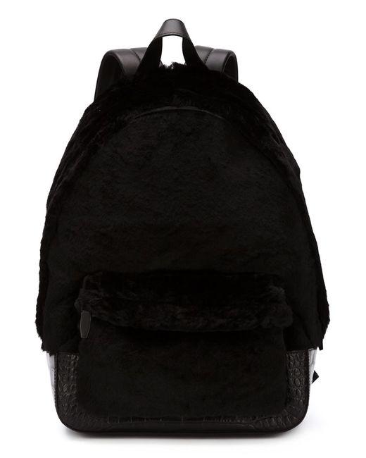 Alexander Wang | Женский Чёрный Рюкзак С Меховой Отделкой