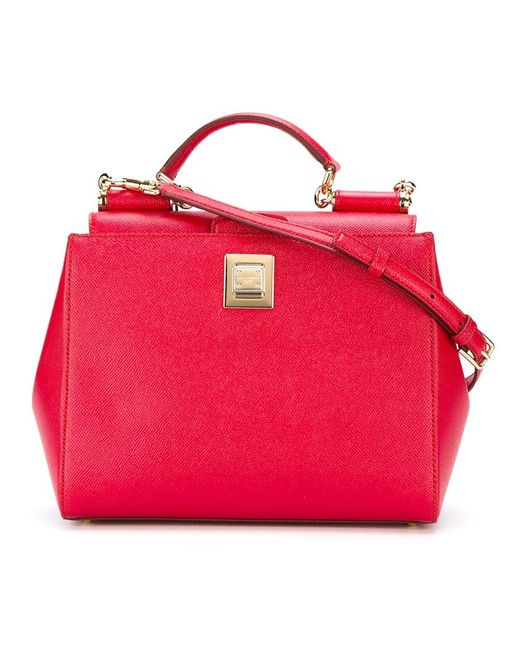 Dolce & Gabbana   Женская Красная Сумка-Тоут Miss Sicily