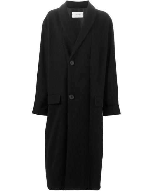 LEMAIRE | Женское Чёрное Длинное Пальто