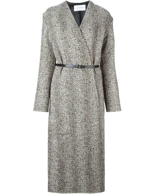 LEMAIRE   Женское Nude & Neutrals Long Belted Wrap Coat