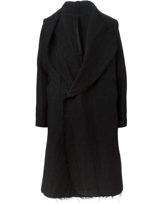 Forme D'Expression   Мужское Чёрное Пальто С Капюшоном