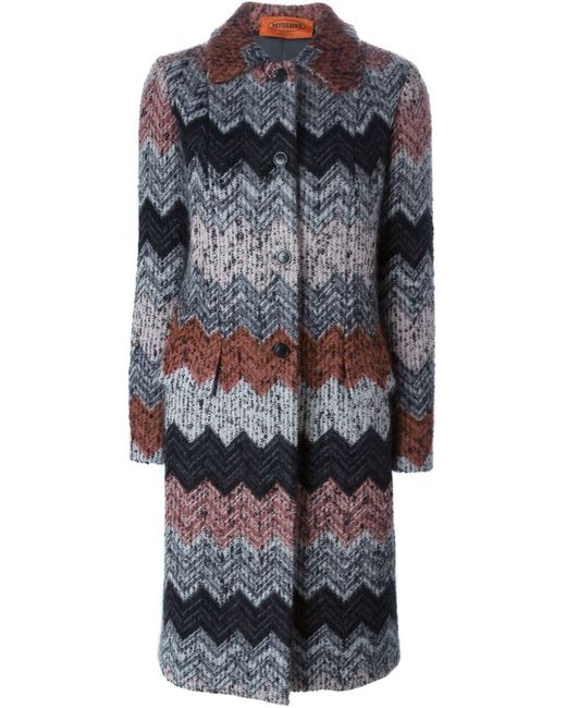 Missoni | Женское Чёрный Zig Zag Knit Coat
