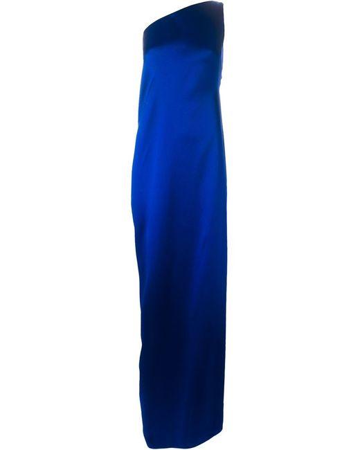 Maison Rabih Kayrouz | Женское Синее Вечернее Платье На Одно Плечо