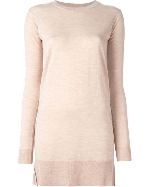 MM6 by Maison Margiela | Женское Nude & Neutrals Mm6 Maison Margiela Fine Knit Sweater Dress