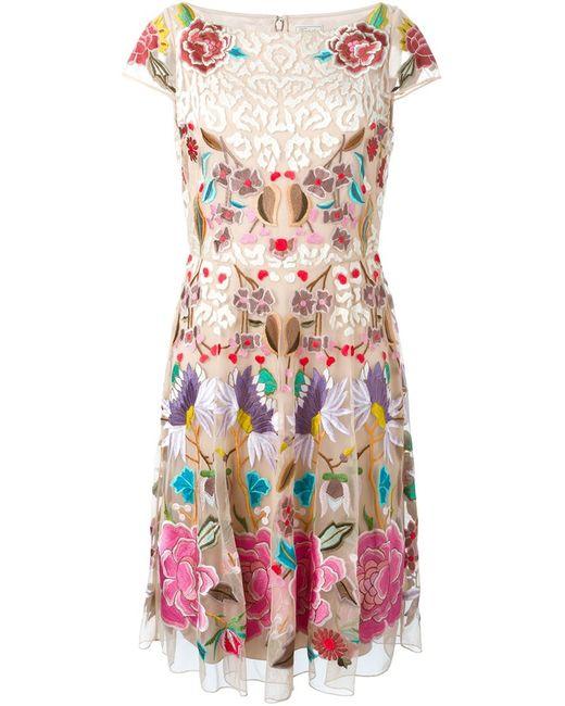Temperley London | Женское Nude & Neutrals Flower Embroidered Shortsleeved Dress