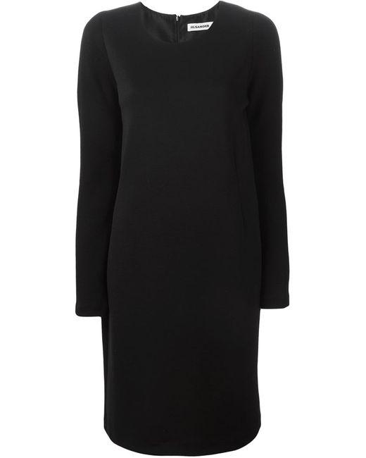 Jil Sander   Женское Чёрный Longsleeved Shift Dress