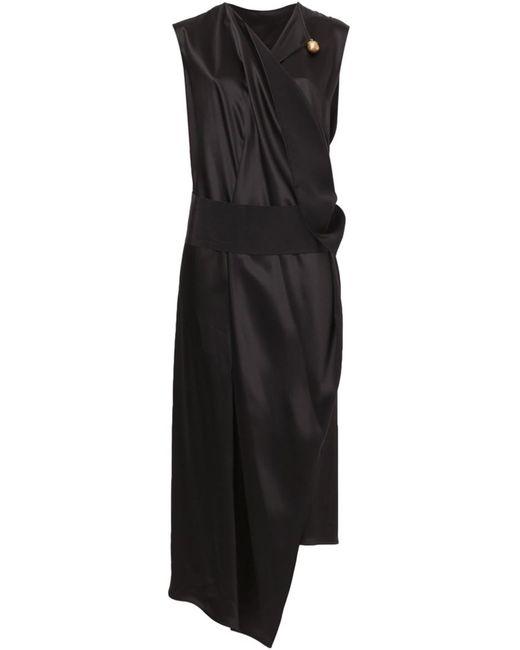 Maison Rabih Kayrouz   Женское Чёрный Draped V-Neck Dress
