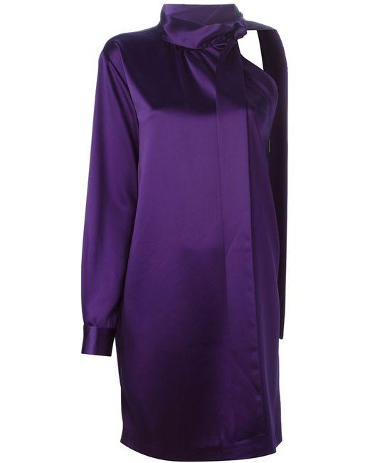 MSGM   Женское Розовый One Sleeve Knot Short Dress