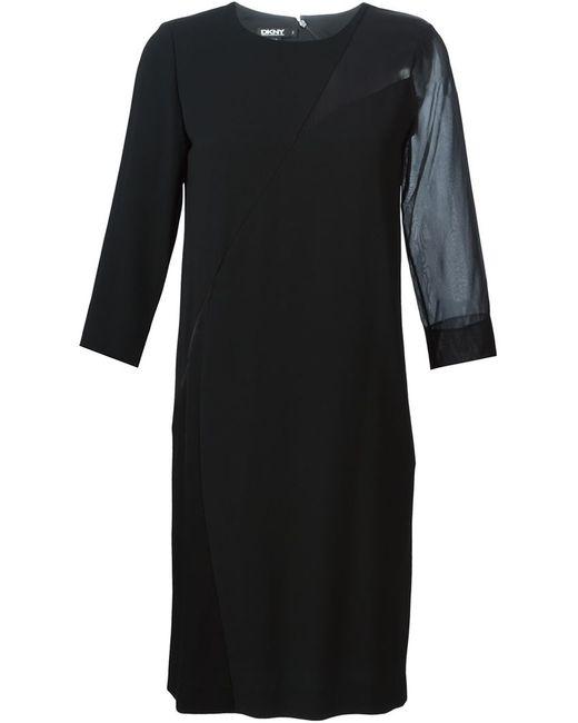 DKNY   Женское Чёрный Panelled Sheer Detail Dress