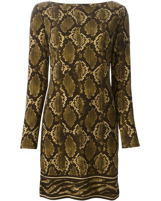 Michael Michael Kors | Женское Snake Skin Print T-Shirt Dress