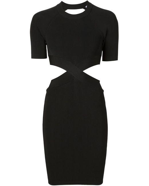 Alexander Wang | Женское Чёрное Облегающее Платье С Вырезными Деталями