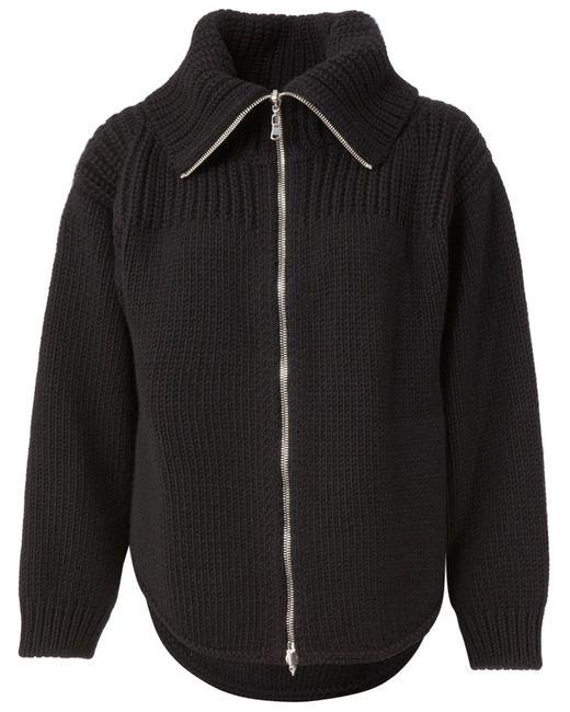Alexander McQueen | Женская Чёрная Вязаная Куртка