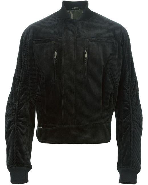Haider Ackermann | Мужская Чёрная Вельветовая Куртка-Бомбер