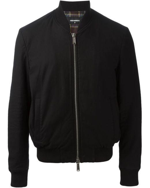 Dsquared2 | Мужская Чёрная Куртка-Бомбер