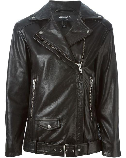 Muubaa   Женское Чёрный Olson Boyfriend Biker Jacket