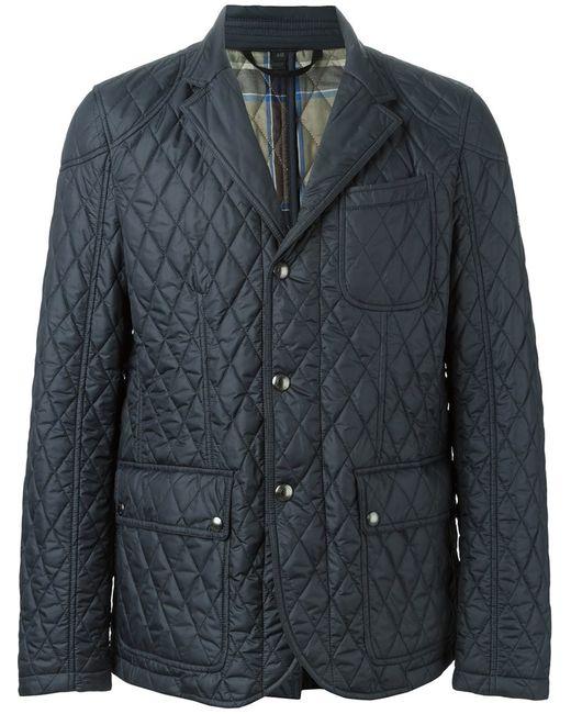Belstaff   Мужская Синяя Стеганая Куртка