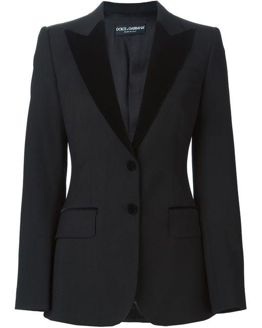 Dolce & Gabbana | Женское Чёрный Velvet Peaked Lapel Suit Jacket