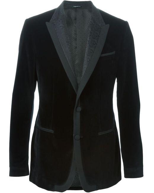 Dolce & Gabbana | Мужское Чёрный Velvet Blazer