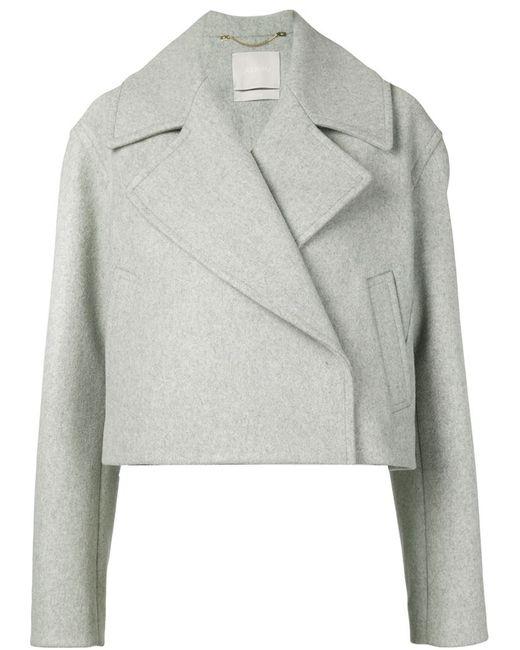 Jason Wu   Женское Серый Cropped Notched Collar Jacket