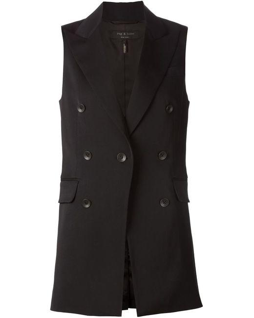Rag & Bone   Женское Чёрный Double Breasted Vest