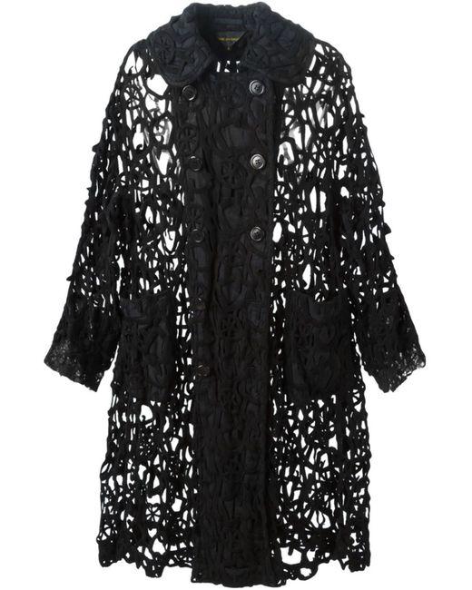 Comme Des Garcons | Женское Чёрный Cut-Out Woven Cardi-Coat