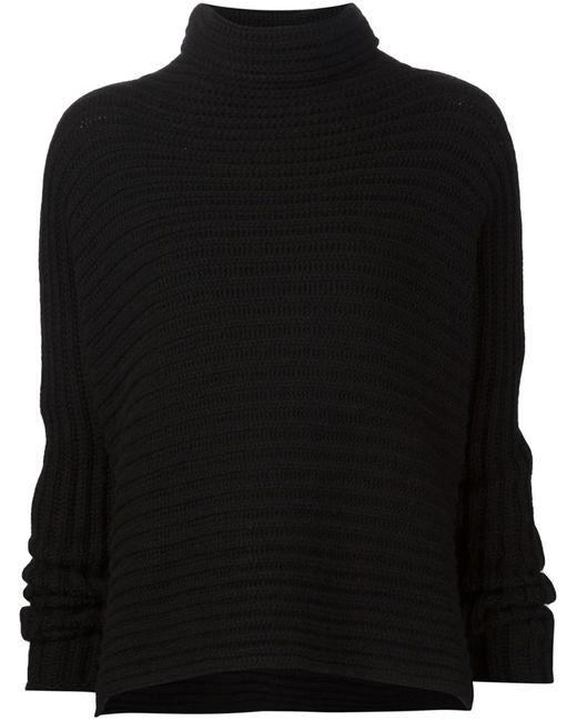 URBAN ZEN | Женское Чёрный Turtle Neck Ribbed Sweater