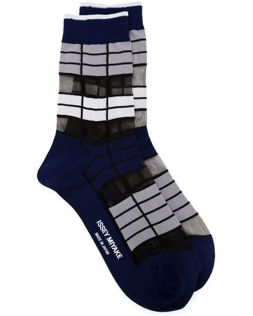 Issey Miyake | Женское Синий Striped Socks