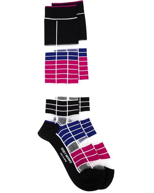 Issey Miyake | Женское Чёрный Long Striped Socks