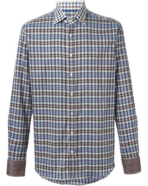 Etro | Мужское Серый Check Print Shirt