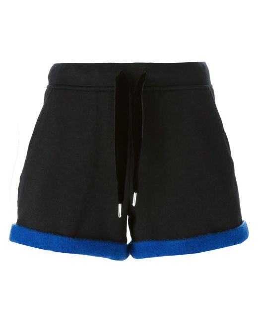 T By Alexander Wang | Чёрный Rear Contrast Trim Shorts