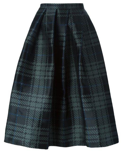 Sofie D'Hoore | Женская Чёрная Жаккардовая Юбка В Шотландскую Клетку