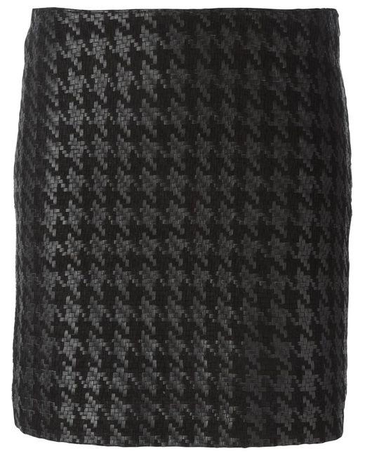 Muubaa | Женское Чёрный Houndstooth Skirt