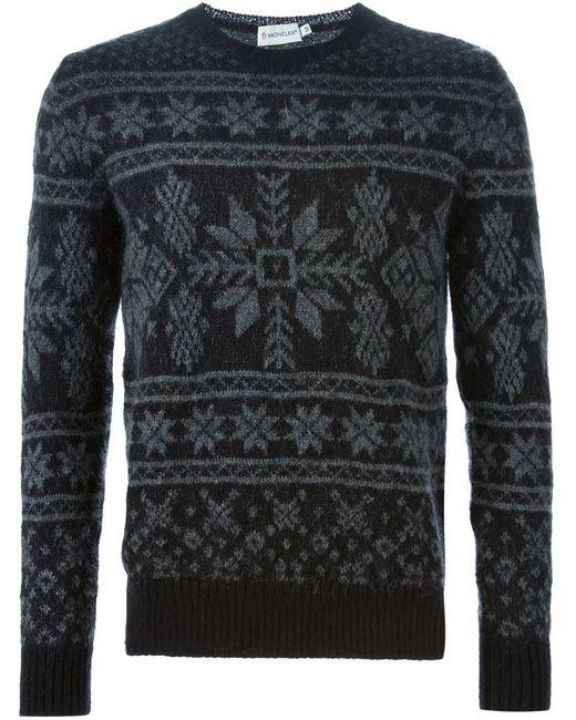 Moncler   Мужское Чёрный Fair Isle Sweater