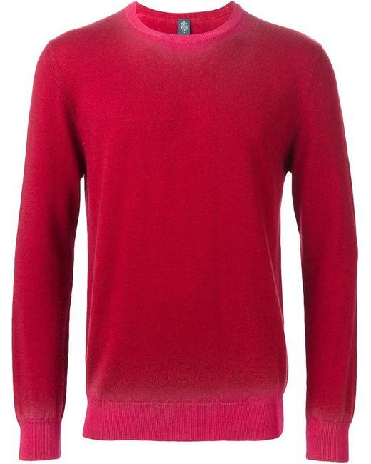 Eleventy   Мужское Красный Crew Neck Sweater