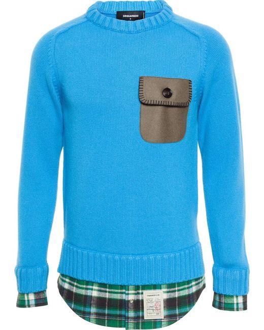 Dsquared2   Мужское Зелёный Chest Pocket Sweater