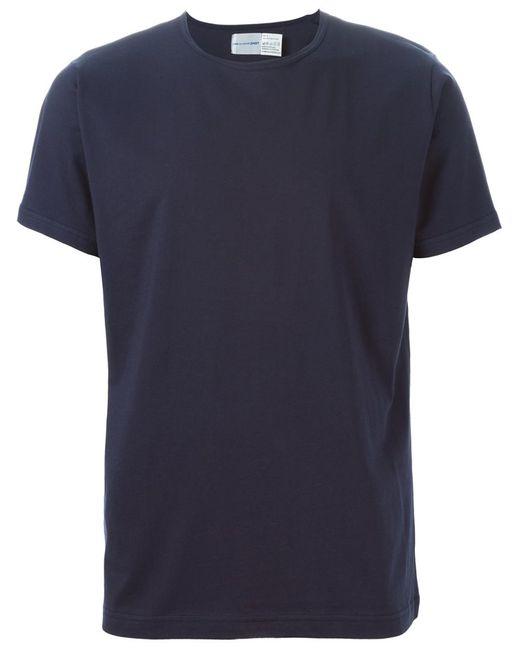Comme Des Garcons | Мужская Синяя Футболка Comme Des Garçons Shirt X Sunspel