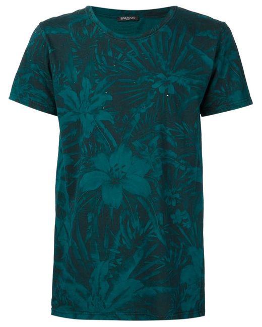 Balmain | Мужское Зелёный Print T-Shirt