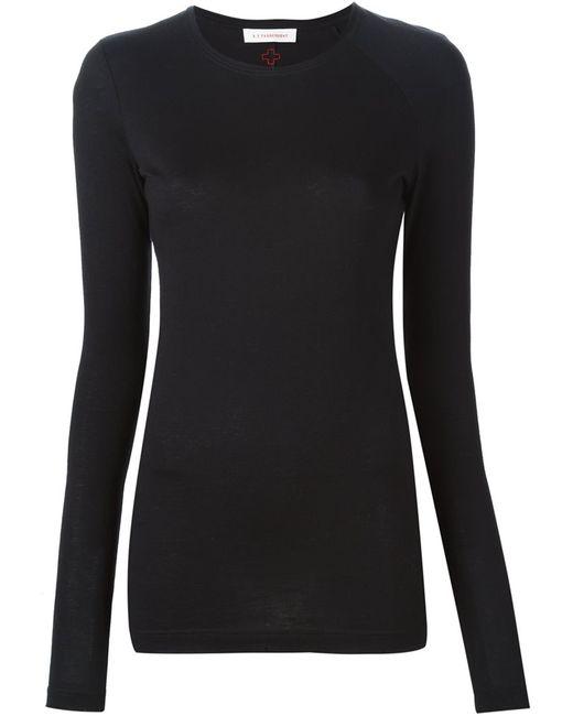 A.F.Vandevorst | Женское Чёрный 152 Fairy Long Sleeve T-Shirt